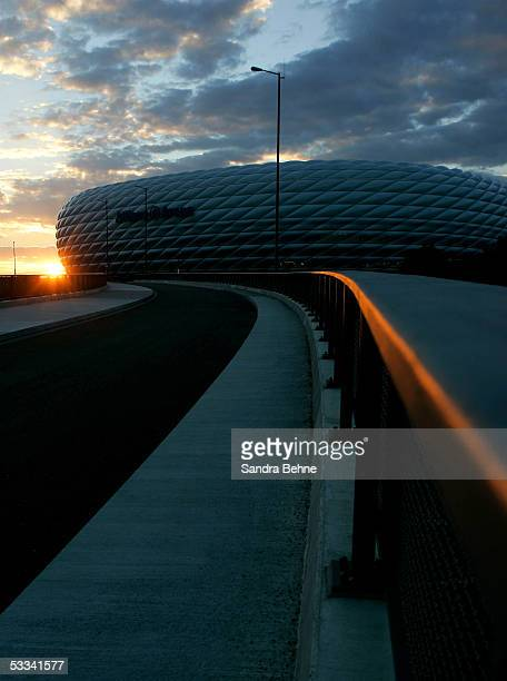 The Allianz Arena is seen on August 8 2005 in Munich Germany The stadium will host the opening game of the FIFA World Cup 2006 Championships