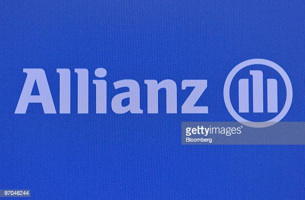 The Allianz logo sits on display during a press conference in Munich Germany on Thursday Feb 25 2010 Allianz SE Europe's biggest insurance company...