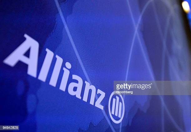 The Allianz SE Group logo is seen during the presentation of the company's 2008 results in Munich Germany on Thursday Feb 26 2009 Allianz SE Europes...