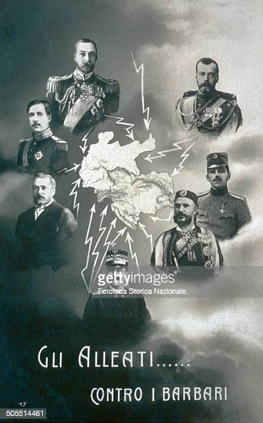 The Allies against the Barbarians The opposing factions Austria Germany and Bulgaria against Italy Montenegro Serbia Russia Great Britain France...