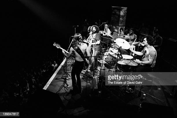 The Allman Brothers and The Grateful Dead jam live at The Gaelic Park Sports Centre in The Bronx on August 17 1972 in New York City New York