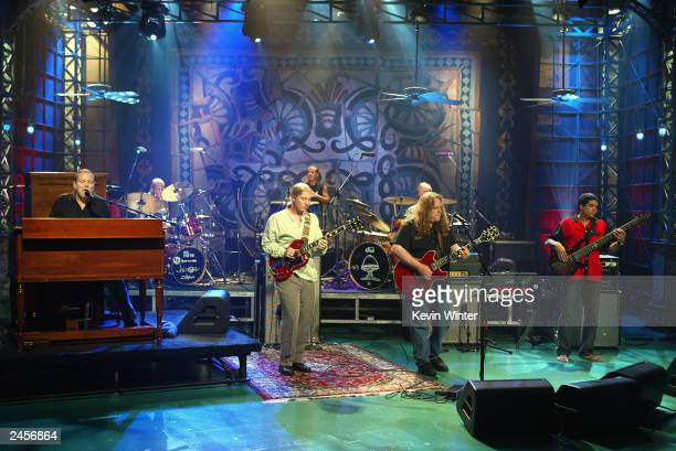 The Allman Brothers appear on 'The Tonight Show with Jay Leno' at the NBC Studios on September 2 2003 in Burbank California