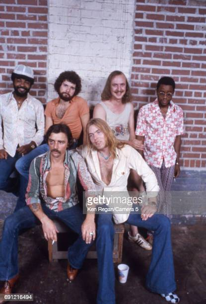 The Allman Brothers Band are photographed at home in August 1975 CREDIT MUST READ Ken Regan/Camera 5 via Contour by Getty Images