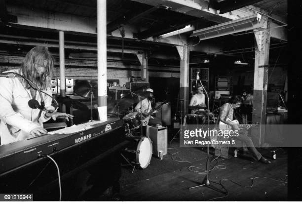 Gregg Allman Lamar Williams Butch Trucks Dickey Betts and Chuck Leavell are photographed at home in August 1975 CREDIT MUST READ Ken Regan/Camera 5...