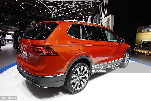 The allnew Volkswagen Tiguan is shown at the 2017 North American International Auto Show on January 10 2017 in Detroit Michigan Approximately 5000...