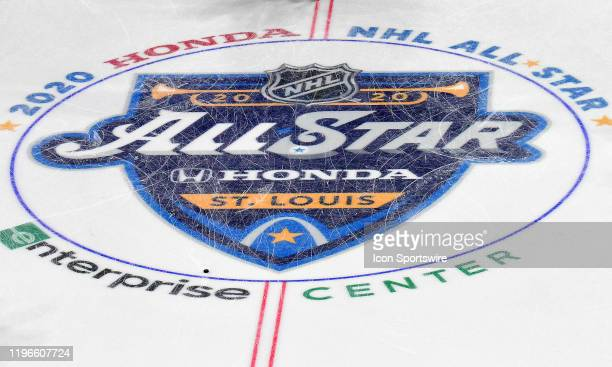 The AllStar Game logo as seen before the NHL AllStar Game at Enterprise Center St Louis Mo on January 25 2020 Photo by Keith Gillett/Icon Sportswire...