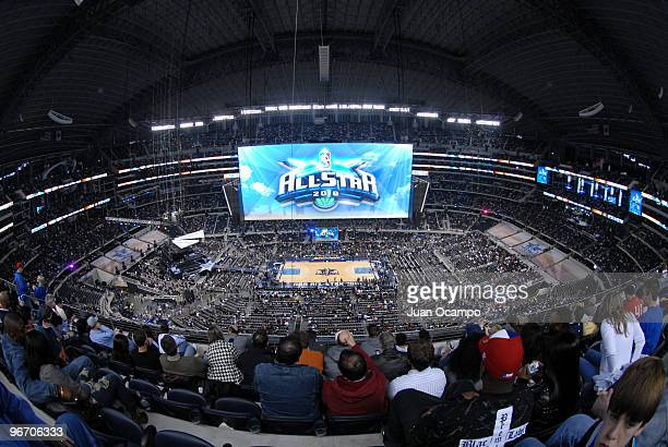 The AllStar logo appears on the jumbotron during the NBA AllStar Game as part of 2010 NBA AllStar Weekend on February 14 2010 at Cowboys Stadium in...