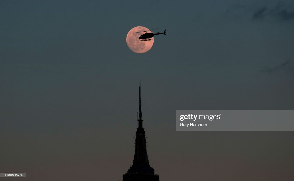 NY: Brighest Super Moon Of The Year Lights Up New York City Skies