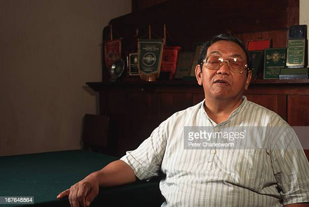 The almostblind religious leader Abdurrahman Wahid heads Indonesia's largest muslim organisation Here he is seen in his modest office at the...