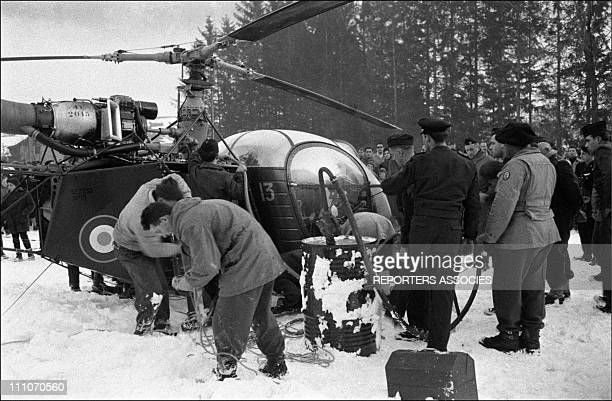 The Alouette II take off from Chamonix in France on January 3 1957