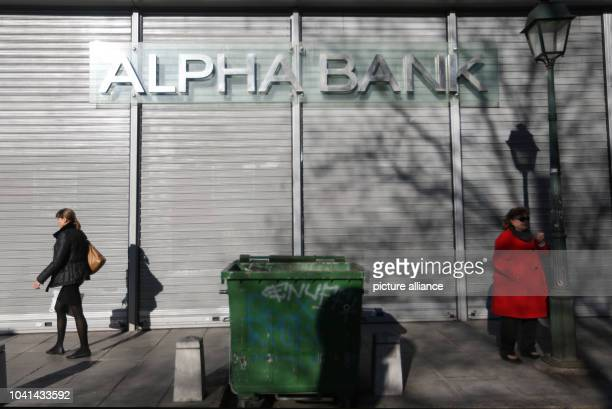 The Alpha Bank building in Thessaloniki Greece 15 February 2017 Photo Ina Fassbender/dpa | usage worldwide