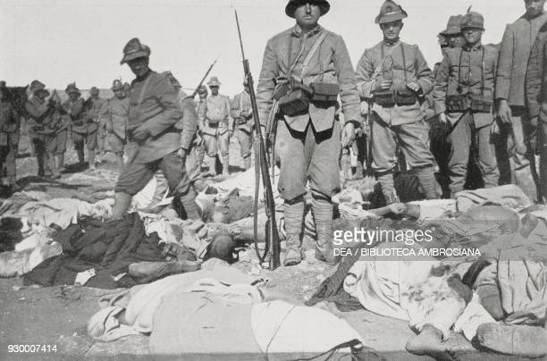 The Alpine Michele Valsecchi who on the night of 11 February was taken by the head and dragged out of the Lombardia redoubt by Bedouin fighters at...