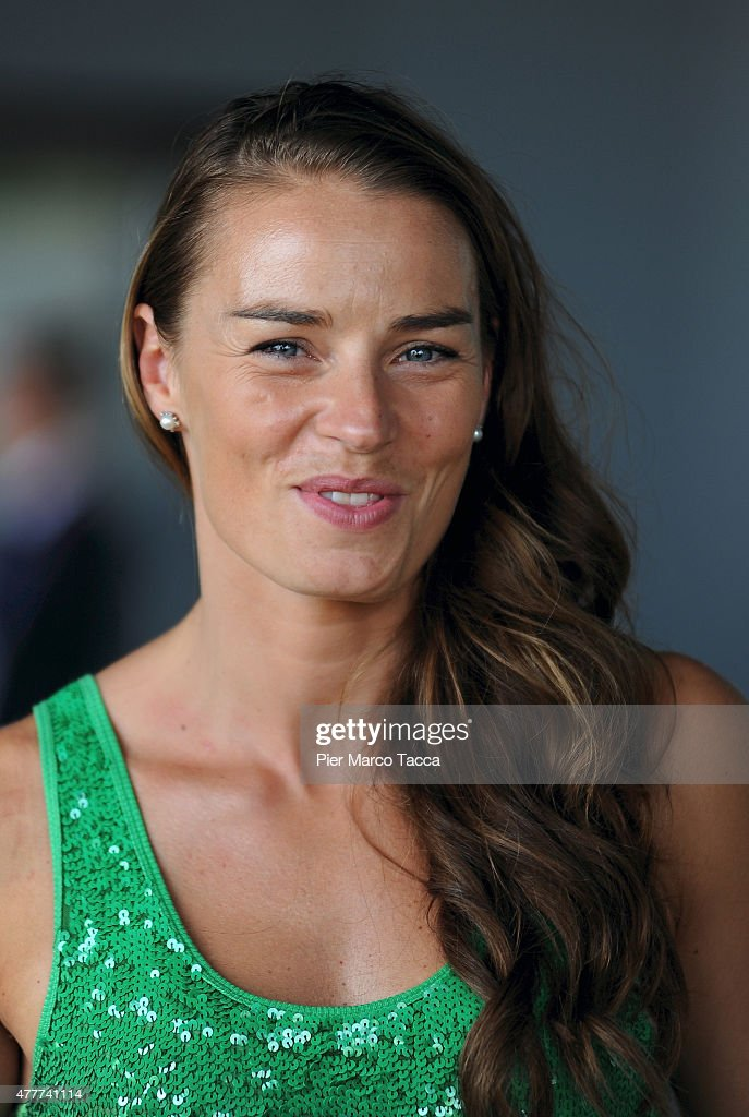 The alpine ski champion Tina Maze of Slovenia attends a press conference at the Expo 2015 at Milan Rho Fiera on June 19, 2015 in Milan, Italy.