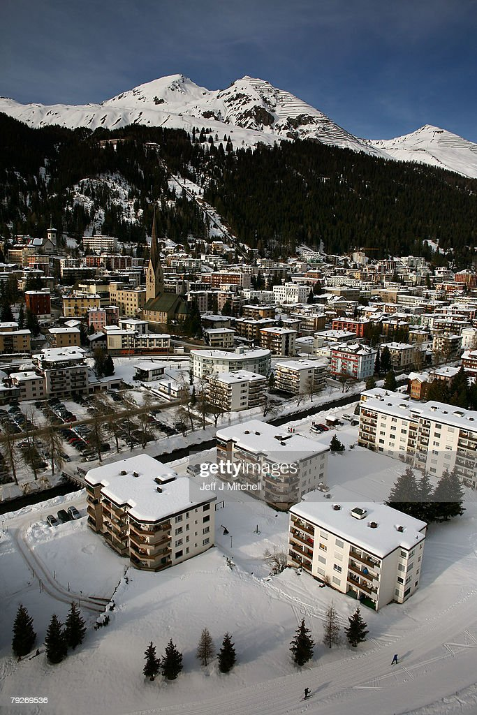 The Alpine ski resort of Davos where the World Economic Forum is taking place January 26, 2008 in Davos, Switzerland.Some of the World's top business people, heads of state and representatives of NGOs will meet at the forum until Sunday.