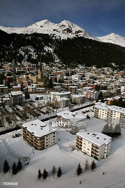 The Alpine ski resort of Davos where the World Economic Forum is taking place January 26 2008 in Davos SwitzerlandSome of the World's top business...