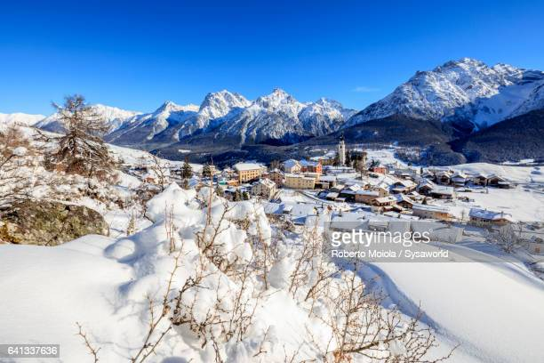 The alpine village of Ftan Switzerland