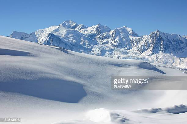 the alps mountains - mont blanc massif stock photos and pictures