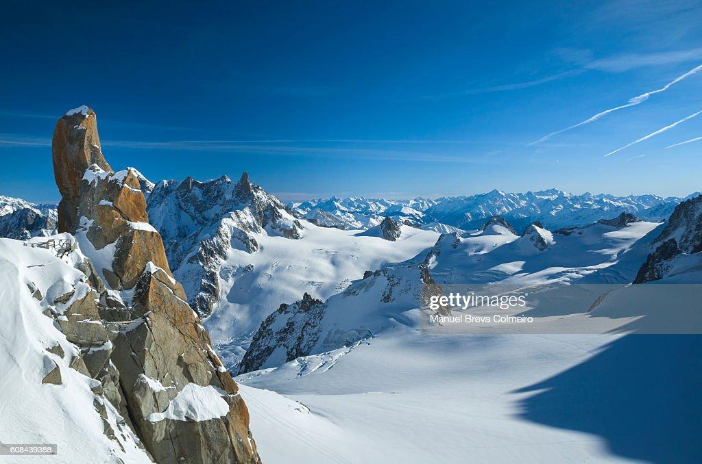 The Alps - panoramic view : Stock Photo