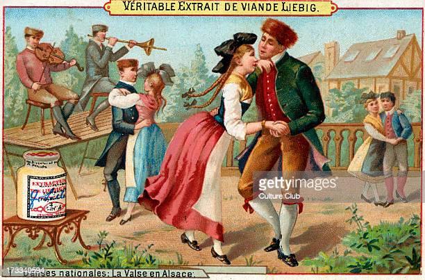 'La Valse en Alsace' Liebig card series Danses nationales