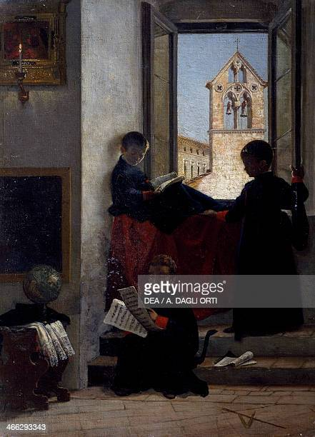 The altar boy painting by Marco de Gregorio 56x41cm