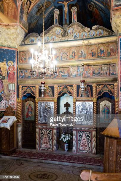 The altar of 'Biserica Veche' (The Old Church) at the Sinaia Monastery, Romania