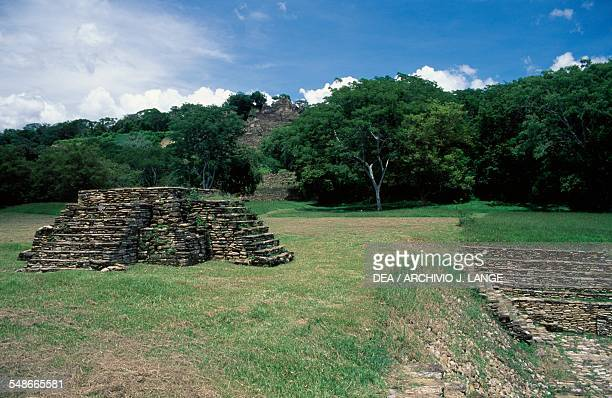 The Altar of Sacrifices, Tonina, Ocosingo, Chiapas, Mexico. Mayan civilisation, 6th-9th century.