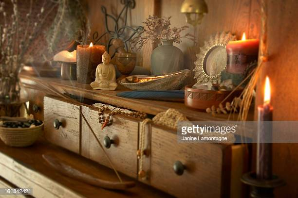the altar - incense stock photos and pictures
