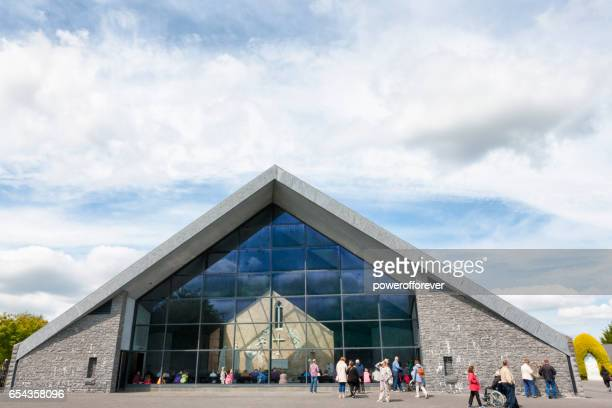 the alter at knock shrine in knock, ireland - shrine stock pictures, royalty-free photos & images