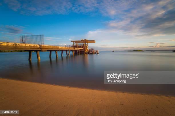 the alumina refinery pipeline in the sea of gove, nhulunbuy, australia. - アーネム ストックフォトと画像