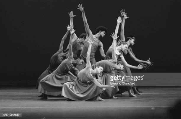 The Alvin Ailey American Dance Theater perform 'Revelations' at Sadler's Wells in London, UK, June 1973.