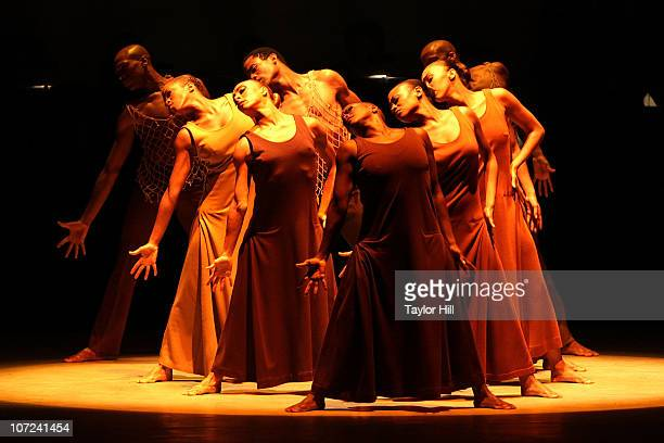 The Alvin Ailey dancers perform 'Revelations' at the Alvin Ailey American Dance Theater opening night gala benefit at City Center on December 1 2010...