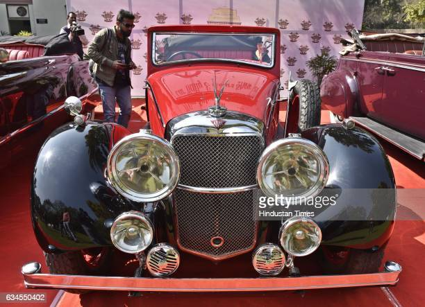 The Alvis Speed 20 of 1936 model with 4800 CC displayed during the media preview for upcoming 21 Gun Salute Vintage Car rally on February 10 2017 in...
