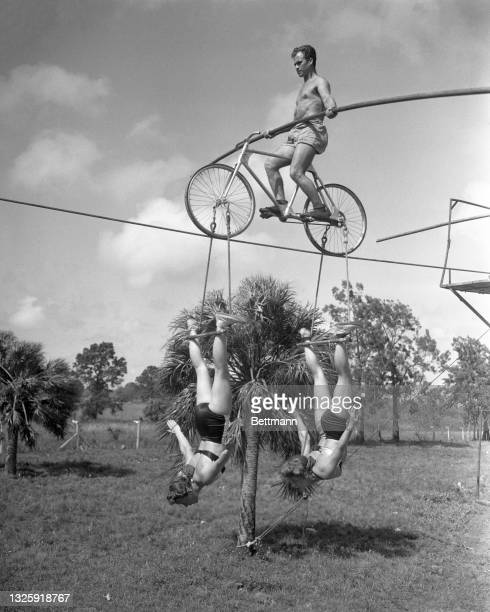 The Alzanas who perform on bicycles on tight ropes find plenty to do during the off-season. Bicycles used in the act must be overhauled and daily...