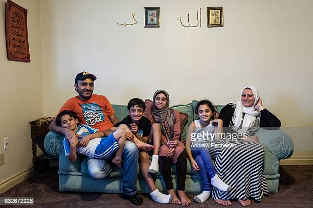 The AlZoobi family spends time together at their home on July 26 2015 in Bloomfield Hills Michigan They fled Syria three years ago and have lived in...