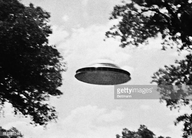 The Amalgamated Flying Saucer Club of America, which headquarters in Los Angeles, released this photo taken by a member reportedly showing a flying...