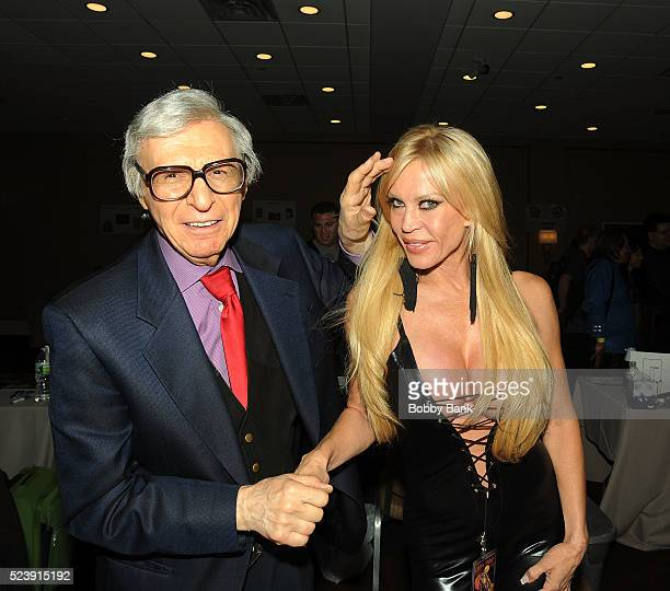 The Amazing Kreskin and Amber Lynn attends 2016 Chiller Theater Expo at Parsippany Hilton on April 24 2016 in Parsippany New Jersey