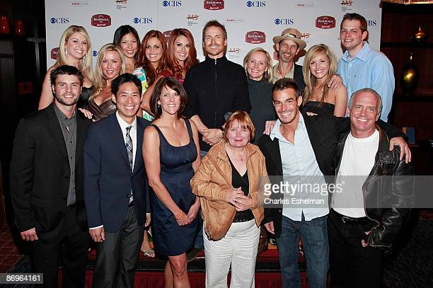 The Amazing Race 14 host Phil Keoghan and contestants attend the finale party at the The Marriott Residence Inn on May 10 2009 in New York City