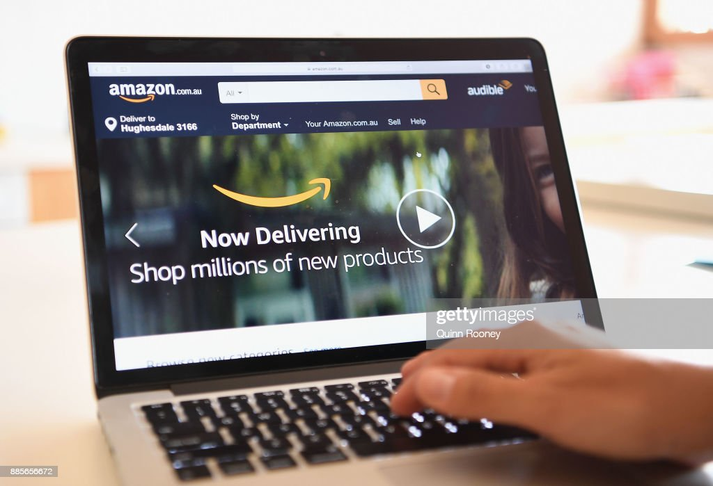 Online Retailer Amazon Launches In Australia : News Photo