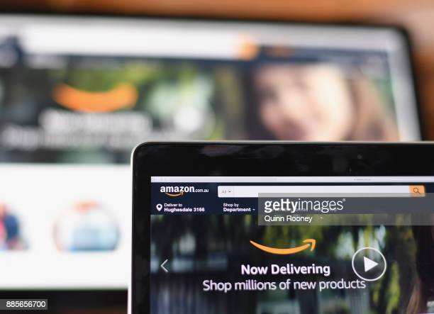 The Amazon website is seen on December 5 2017 in Dandenong Australia Amazon has ended months of speculation by launching its local website overnight...