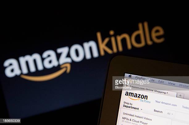 The Amazoncom Inc homepage and Amazon Kindle logo are displayed on laptop computers in Washington DC US on Wednesday Oct 23 2013 Amazoncom Inc is...