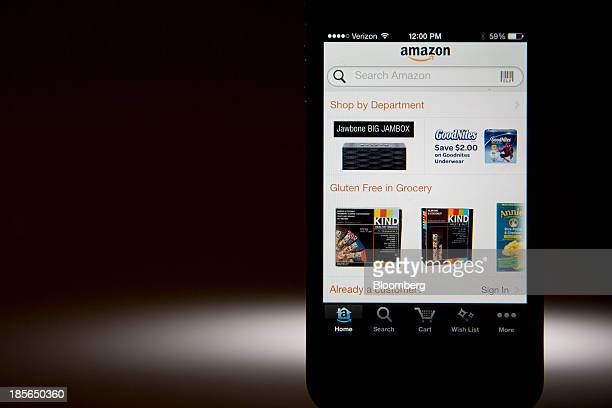 The Amazoncom Inc homepage is displayed on an Apple Inc iPhone in Washington DC US on Wednesday Oct 23 2013 Amazoncom Inc is scheduled to release...