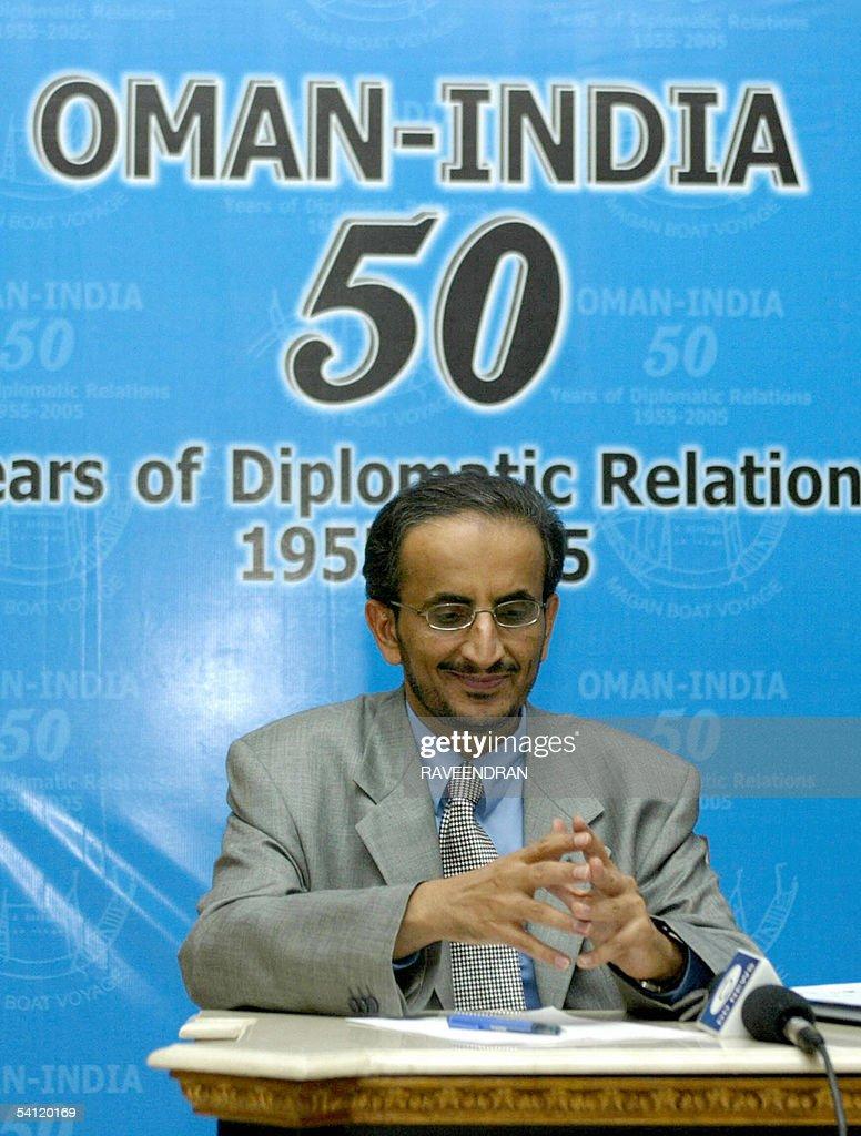 The Ambassador of Oman to India Khalifa Bin Ali Al-Harthy, addresses