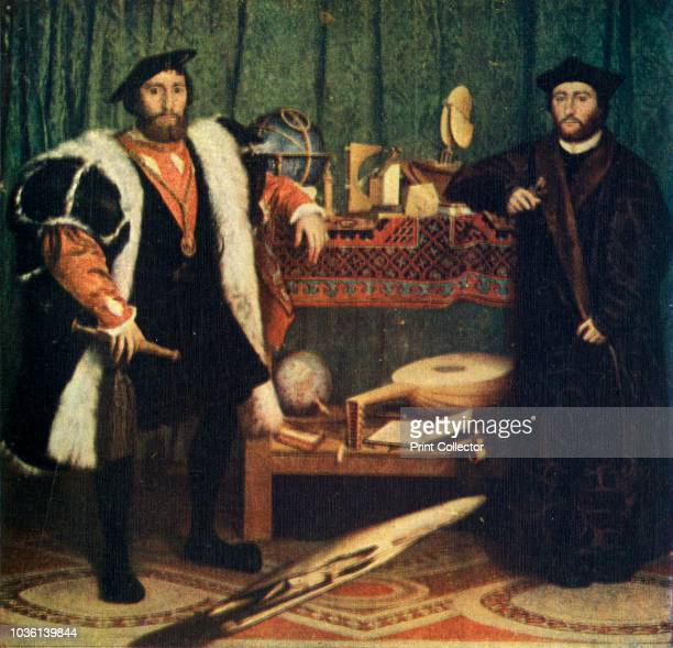 The Ambassadors' Portrait of Jean de Dinteville French Ambassador to England in 1533 and Georges de Selve Bishop of Lavaur who visited him in London...