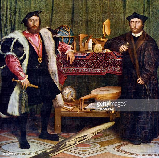 'The Ambassadors' Portrait of Jean de Dinteville French Ambassador to England in 1533 and Georges de Selve Bishop of Lavaur who visited him in London...