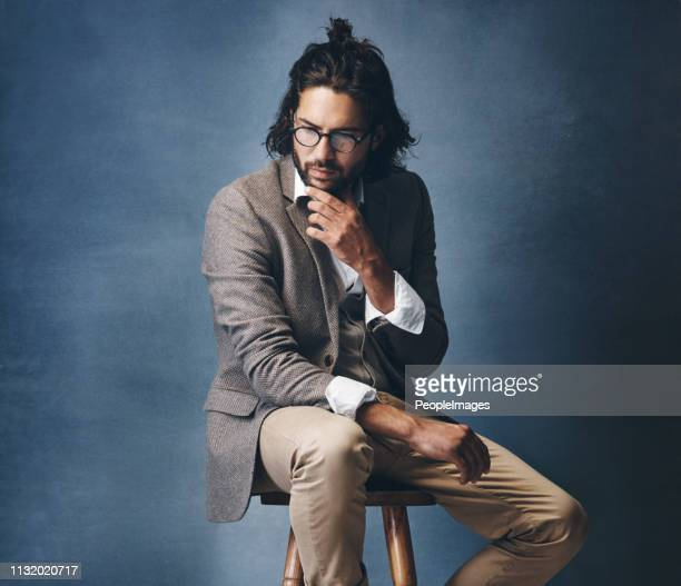 the ambitious are always mind mapping it all - man bun stock pictures, royalty-free photos & images