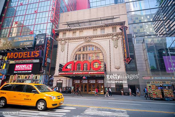 The AMC 25 Theatre in Times Square in New York on Monday, September 7, 2015. AMC Entertainment will acquire Carmike Cinemas for approximately $737...