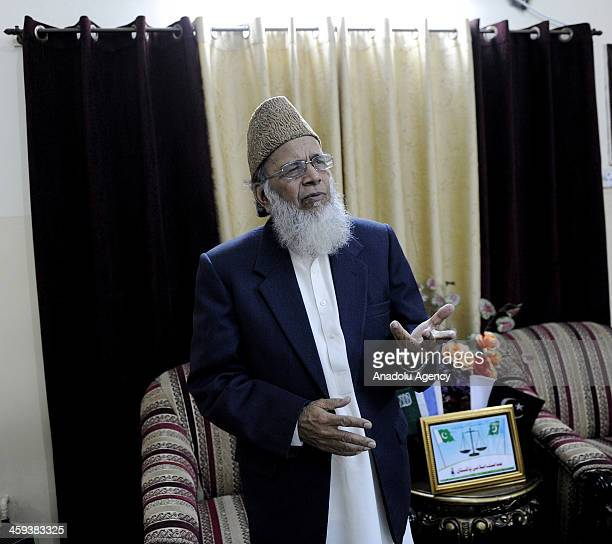 The Ameer of JamaateIslami Pakistan Syed Munawar Hassan is seen on December 26 2013 in Islamabad Pakistan