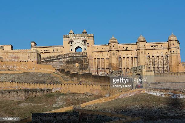The Amer Fort a Jaipur's main landmark Amer was built by Raja Man Singh I and open in the late 1590s