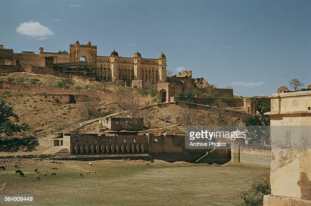The Amer Fort near Jaipur India circa 1965