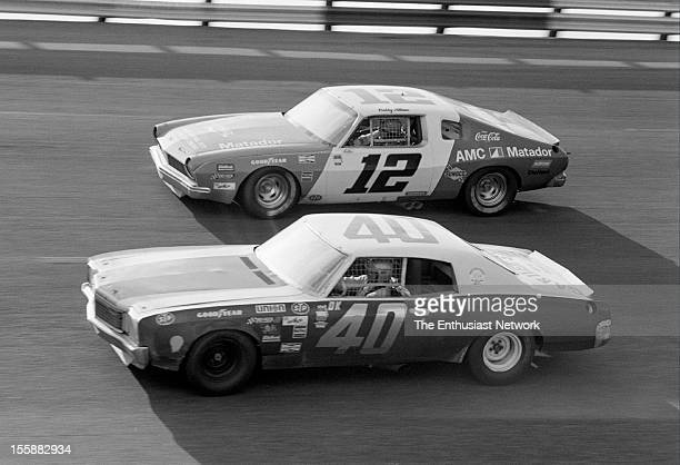 The American 500 Rockingham Speedway North Carolina Race 29 in the Winston Cup series Tony Bettenhausen Jr Chevrolet and Bobby Allison AMC Matador...